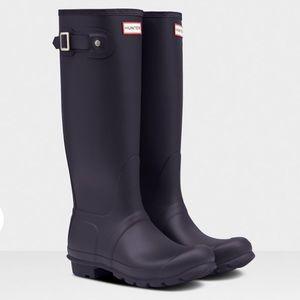 Hunter Original Tall Waterproof Boots Aubergine 11